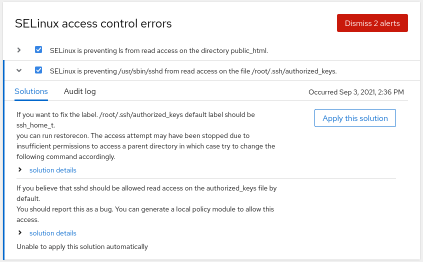 screenshot of dismiss multiple alerts
