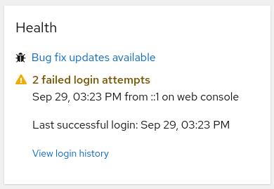 screenshot of move last login to health card