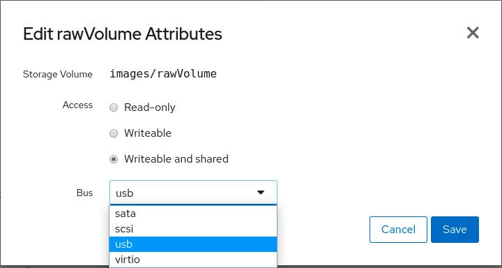 Disk choose bus type
