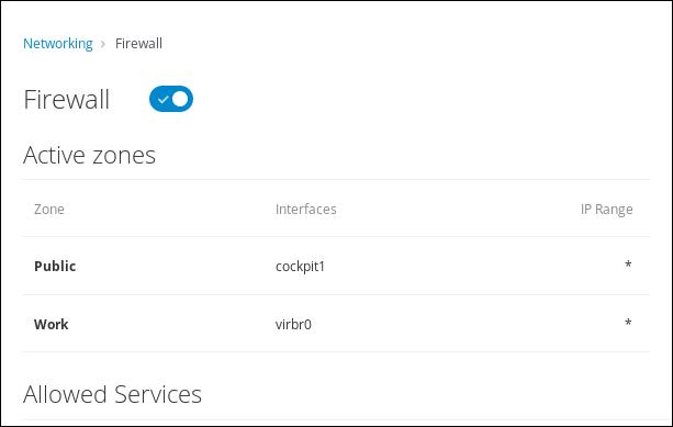 Firewall zone list