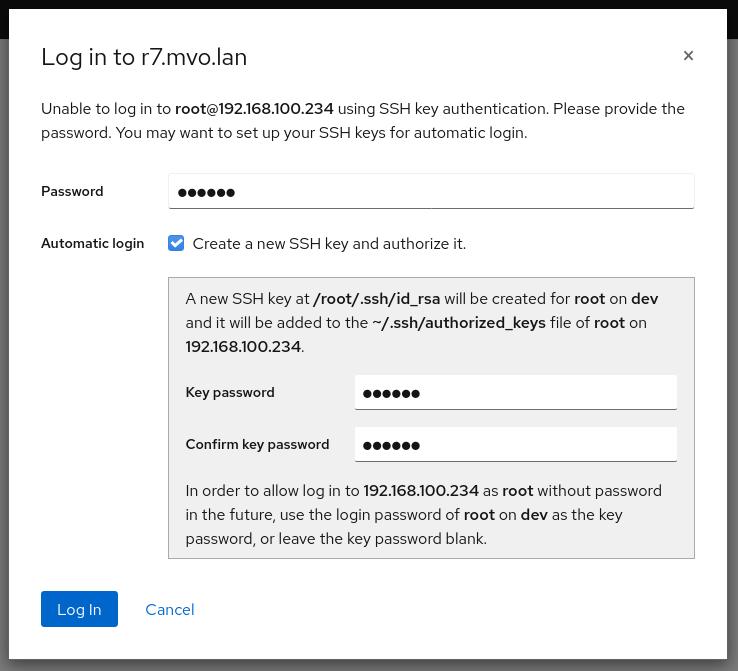 Remote host logins