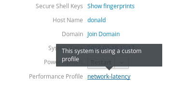 System tuned profile