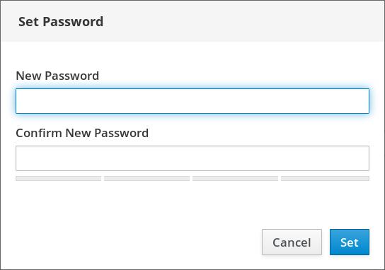 user password dialog screenshot